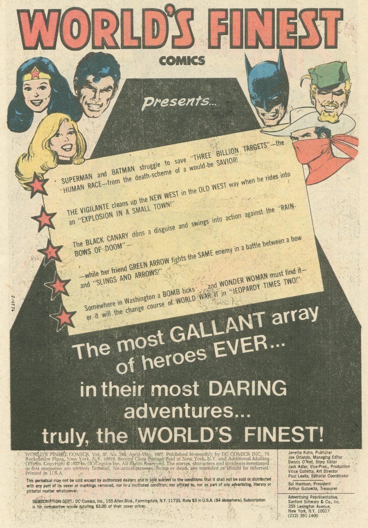 Read online World's Finest Comics comic -  Issue #244 - 3