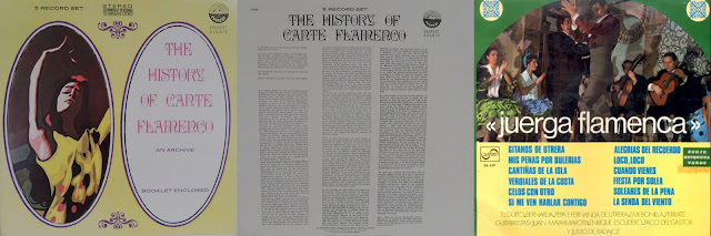 """Curiosa reedición americana del """"Archivo del Cante Flamenco"""" comprimida en 5 LP"""