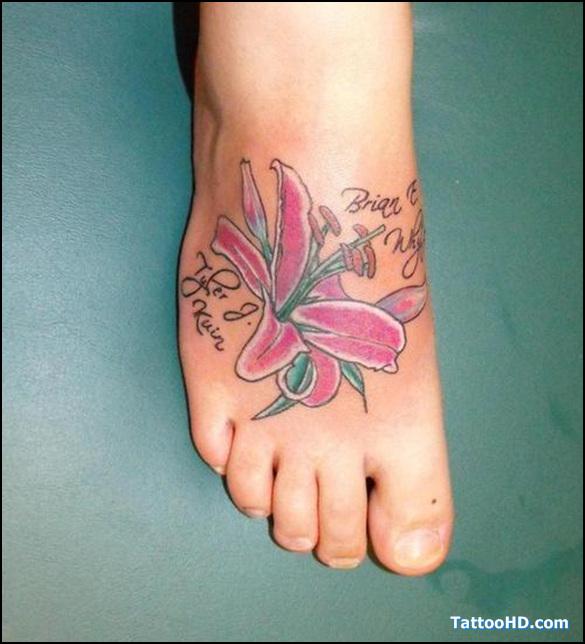 feet tattoos for women