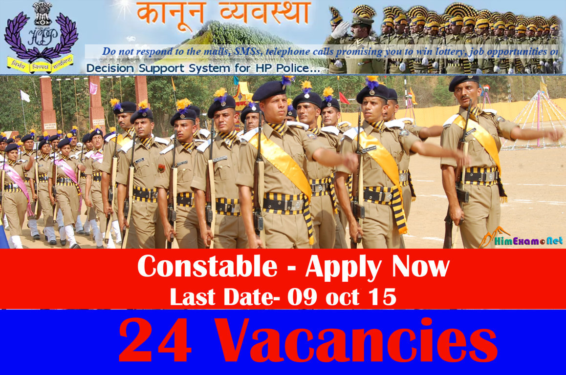 HP Police Constable 24 Vacancies Apply Now
