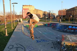 Pista de skate en Desierto