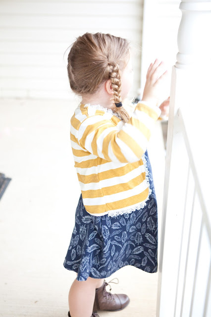 Ruffled Cardigan pattern by Blank Slate Patterns  - sewn by Pattern Revolution