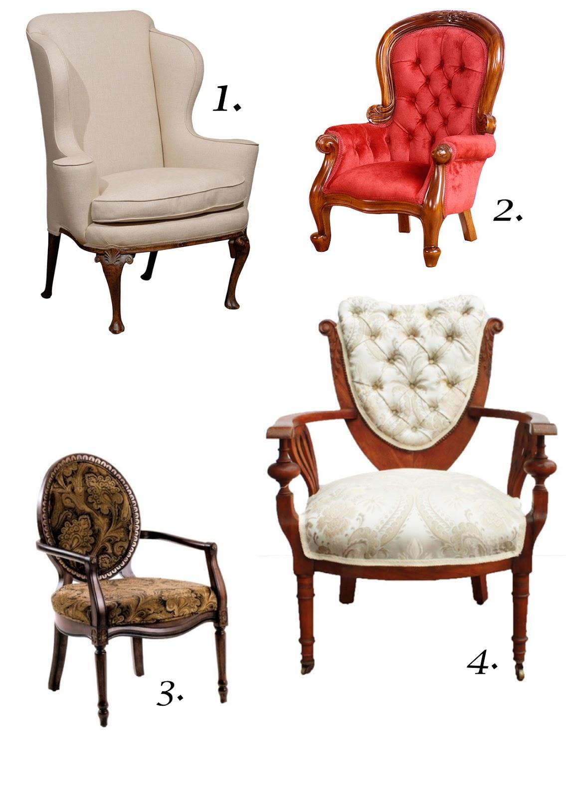 Estilo eclctico con sillones antiguos