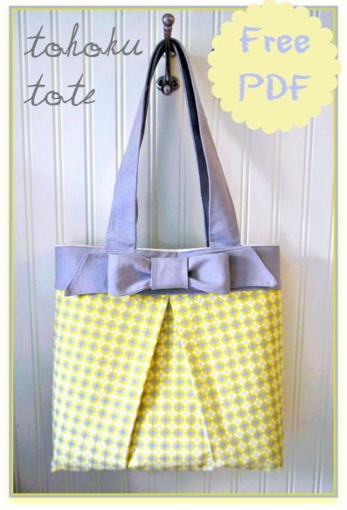 The Tohoku Tote Bag - Free Pattern & Tutorial