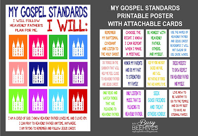 """My Gospel Standards"" LDS Primary poster"