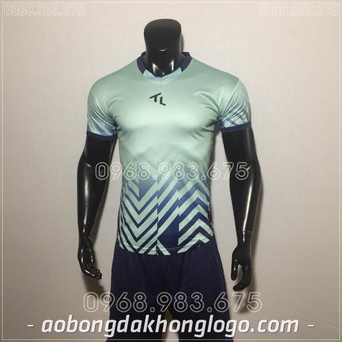 Áo bóng đá không logo TL Raki màu xanh lam