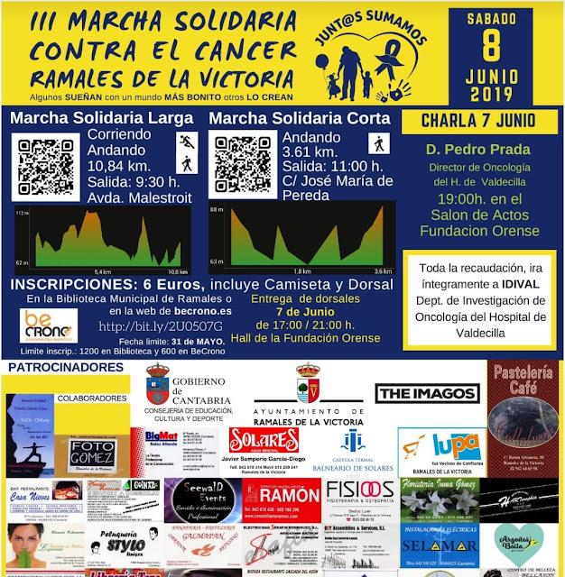 IIIMarcha solidaria contra el cáncer en Ramales de la Victoria