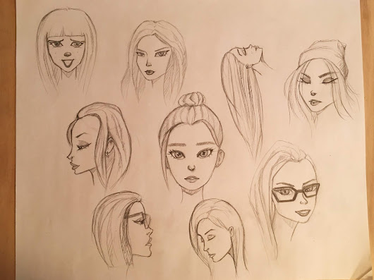 Trying to draw some female heads