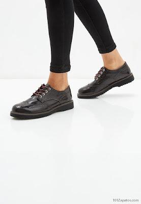 zapatos con cordones para mujer