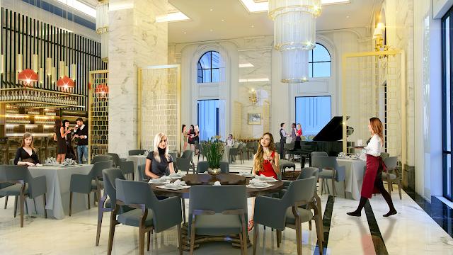 Khu ẩm thực cafe được thiết kế sang trọng