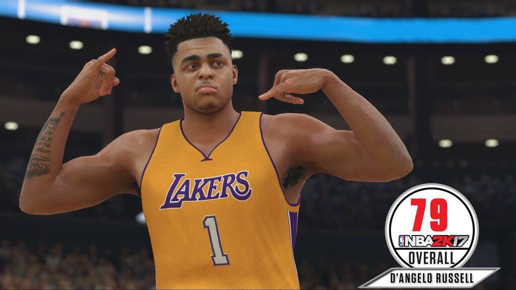 D'Angelo Russell will be 79 OVR in 2K17 (Screenshot)
