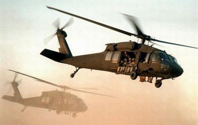 Αμερικανικά ελικόπτερα να διασώζουν τζιχαντιστές ειναι γνωστό ποιοι ταΐζουν αυτα τα τέρατα! αλλα για τους αριστερούς  ειναι Χυδαία ρωσική προπαγάνδα!