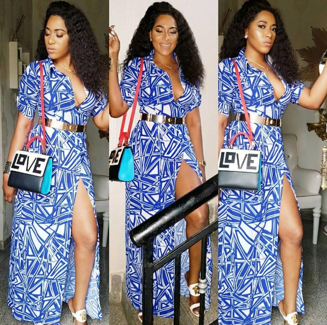 Another look at Rukky Sanda's beautiful blue dress