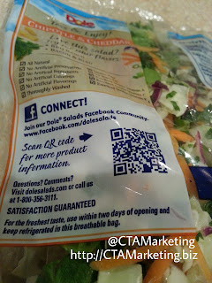 Photo of QR Code for Dole Product Packaging