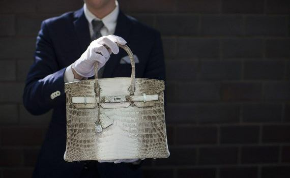 Hermes Birkin diamond encrusted 'crocodile skin' handbag auctioned off at $380,000 in Hong Kong