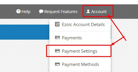 Ezoic Payment Settings