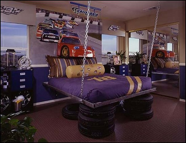 Decorating theme bedrooms maries manor car beds car for Cool kids bedroom designs