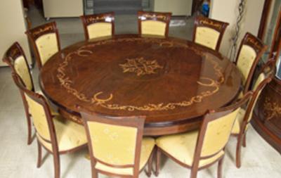 meja makan inlay unik