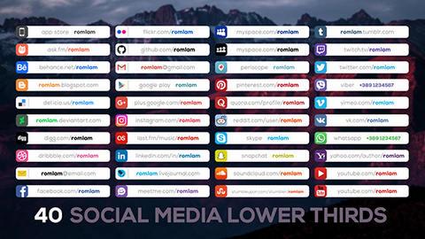 قالب افتر افكت مجاني - 40 فاصل تعريفي لشبكات التواصل الاجتماعي - CS4 فأعلى