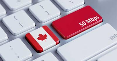 Acceso a internet a todo Canadá