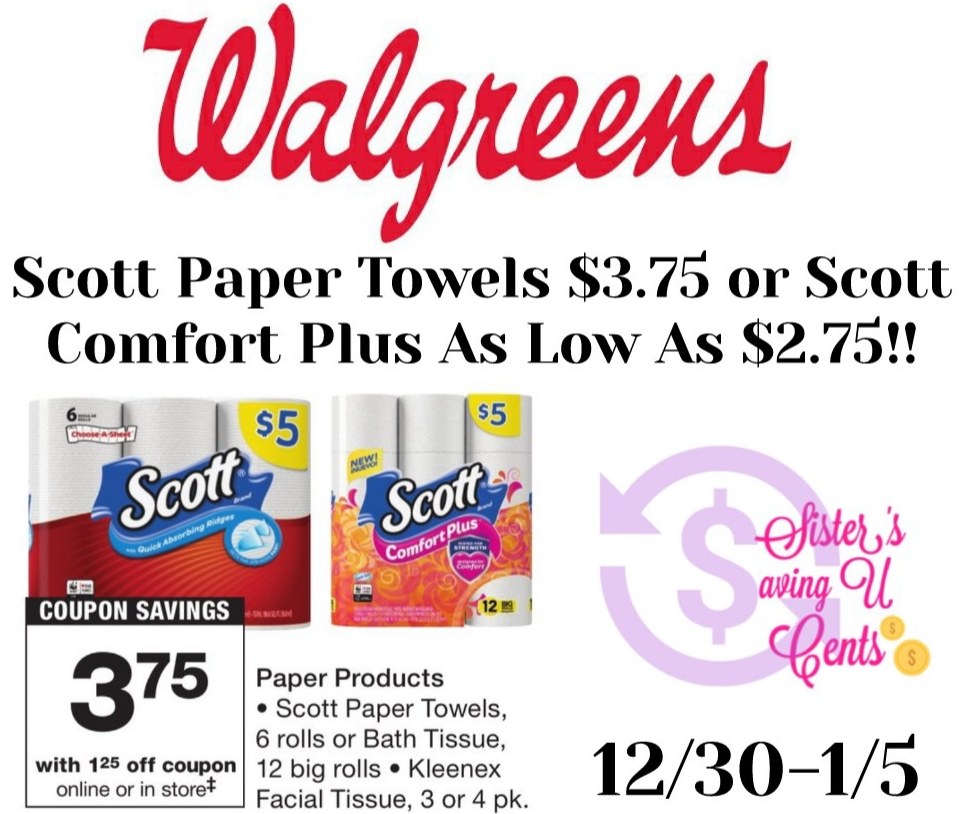 Scott Paper Towels 3 75 Scott Comfort Plus Toilet Paper As Low As