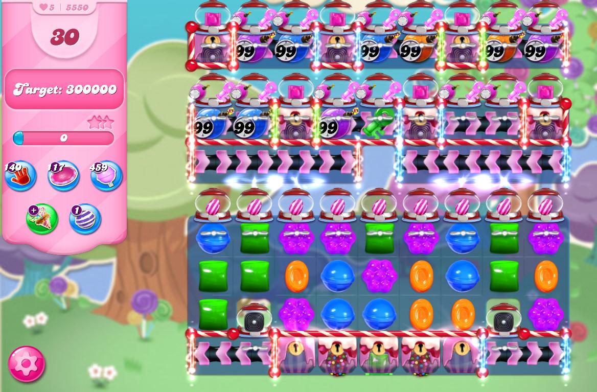 Candy Crush Saga level 5550