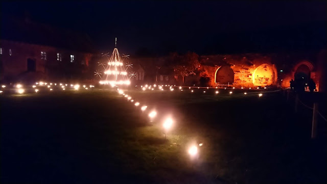 Christmas at Beaulieu - Fire Garden and Abbey grounds