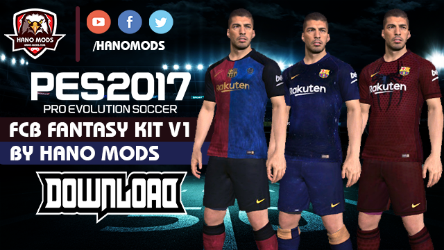 PES 2017 Barcelona Fantasy Kits 2019 V1.0 By Hano Mods