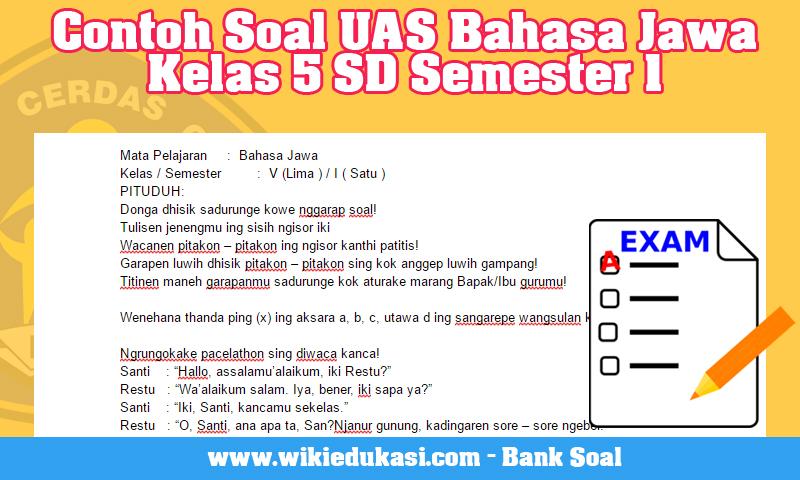 Contoh Soal UAS Bahasa Jawa Kelas 5 SD Semester 1