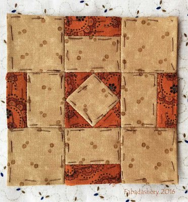 Dear Jane Quilt - Block L7 Town Square