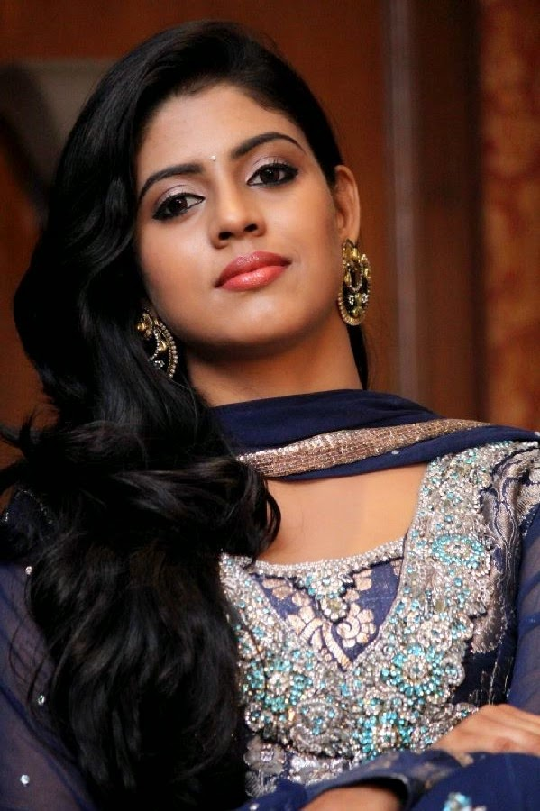 Actress Iniya Latest Cute Hot Exclusive Beautiful Blue Dress Spicy Photos Gallery At Karaiooram Tamil Movie Press Meet Photos Gallery