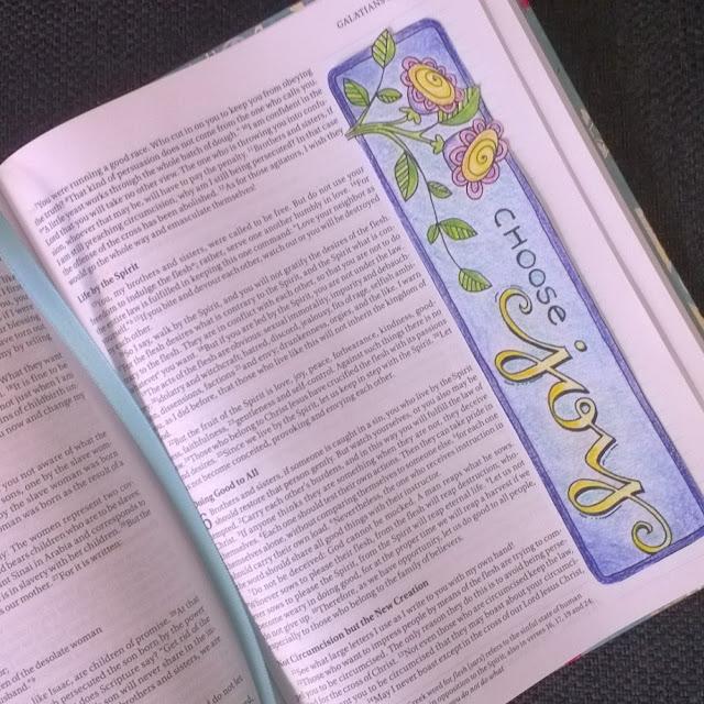 NIV Journal Bible inside.