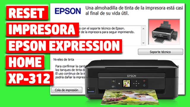 Reset impresora EPSON Expression Home XP-312