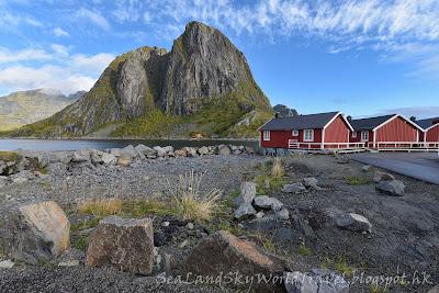 挪威,  羅浮敦群島, lofoten island, norway, eliassen rorbuer