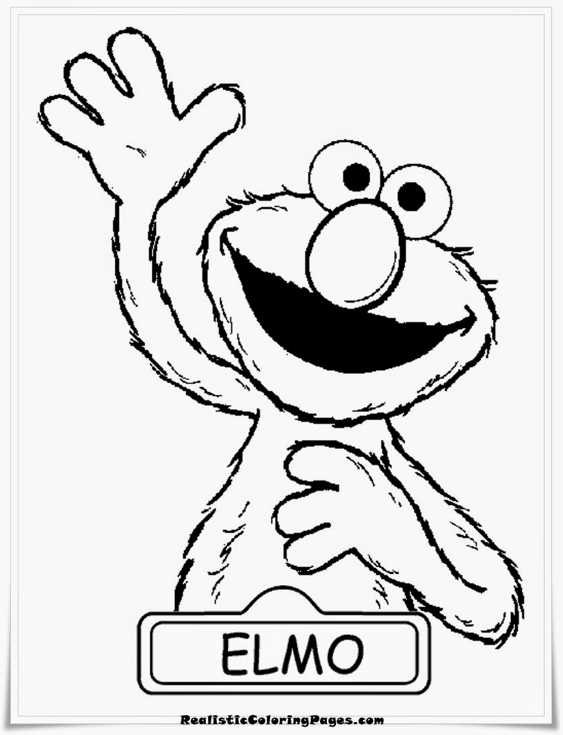 Elmo Free Printable Coloring Pages | Realistic Coloring Pages
