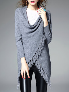 Fringed Long Sleeve Cardigan