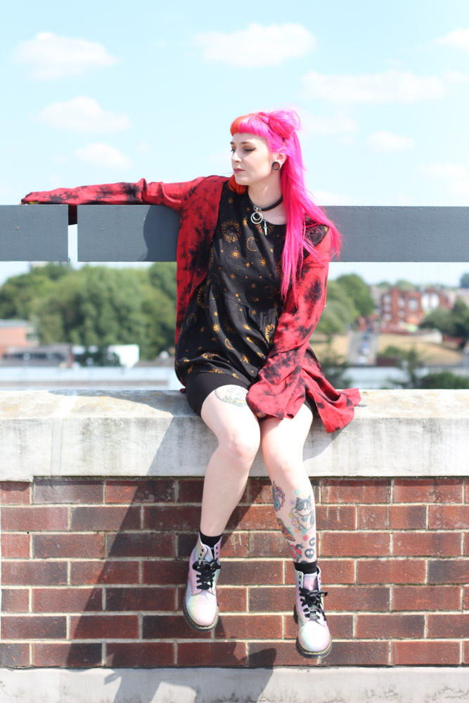 Alternative fashion blogger foxxtailz styles Jaw breaker kimono