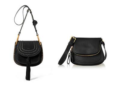 Черные сумки на ремне