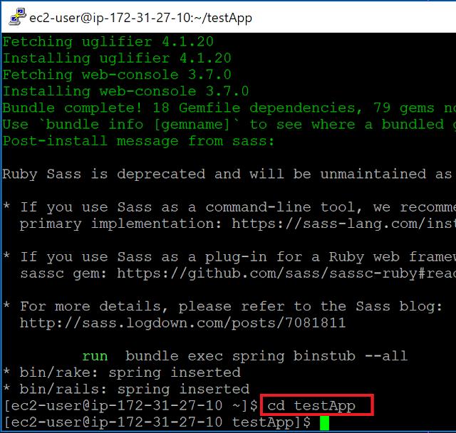 Amazon Linux 2内のRuby on Railsアプリケーションフォルダ