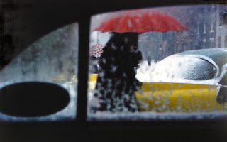 Red Umbrella, photograph by Saul Leiter