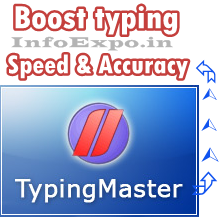 Easy way to increase the typing speed with the help of simple software Typing Master.