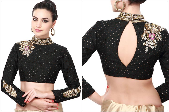 Net Saree Blouse Front Neck Designs Catalogue 20 Stylish High Collar Neck Blouse Designs To Look More Stylish Discover The Latest Best Selling Shop Women S Shirts High Quality Blouses