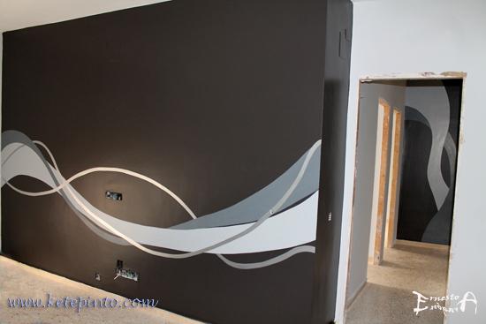 Decoración original para un salón y un pasillo