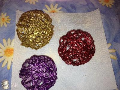 bolas navideñas con purpurina