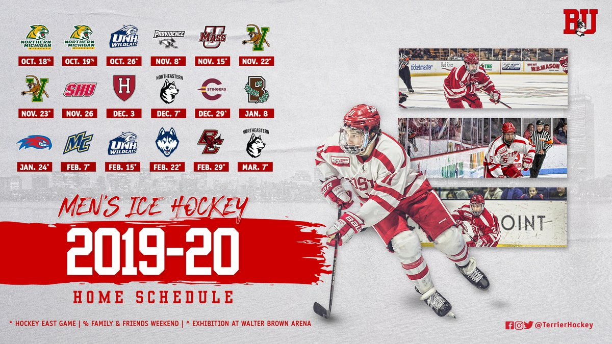 The Terrier Hockey Fan Blog 2019 20 Schedule Announced New Recruit