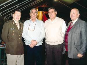 Mayor Claudio Monachesi, Julio Quattropani, Armando Luisi y Aldo Manini, vicecónsul de Italia en San Juan.