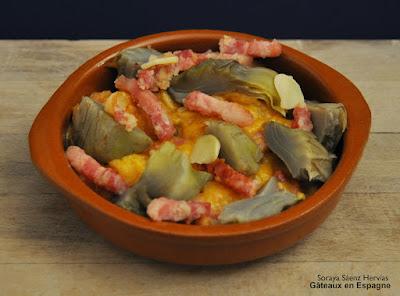 recette artichauts lardons oeufs