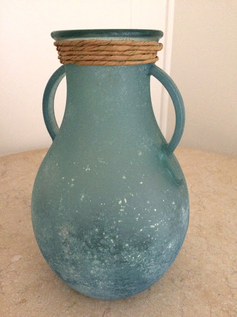 BLUE/GREEN RECYCLED-GLASS AMPHORA MADE IN SPAIN