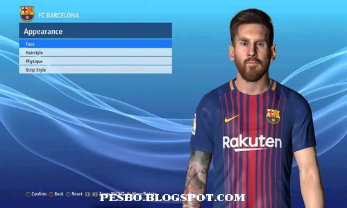 Pes 2017 Messi Face V2 Fix Update By Ahmed Tattoo