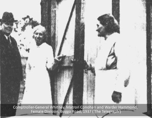Comptroller-General Whitney, Matron Conohan and Warder Hammond, Boggo Road